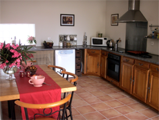 Gîte with a fully equiped kitchen